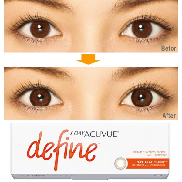 ( Spesial Februari ) 1 Day Acuvue DEFINE Natural Shine - Grey Gold by Johnson & Johnson