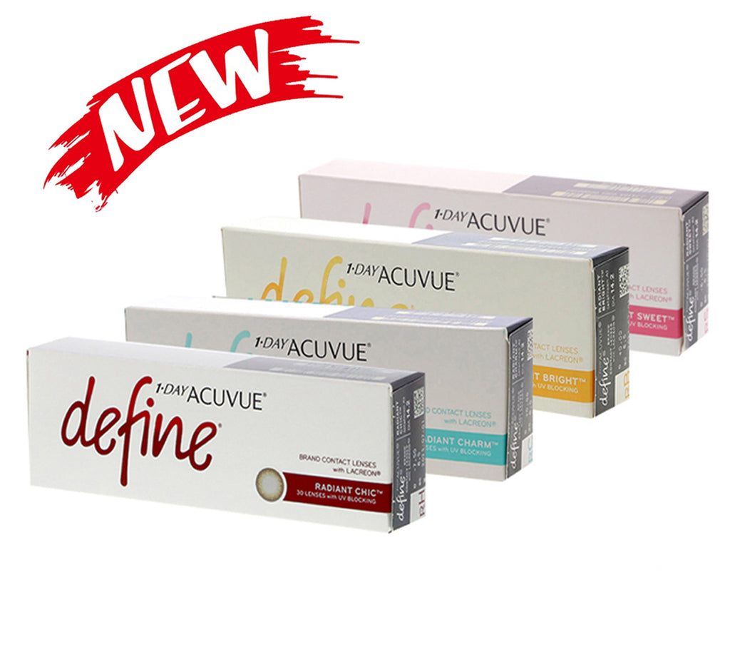 Best Package : 1 Day Acuvue Define Radiant Series ( 4 Box ) - Warna Kombinasi