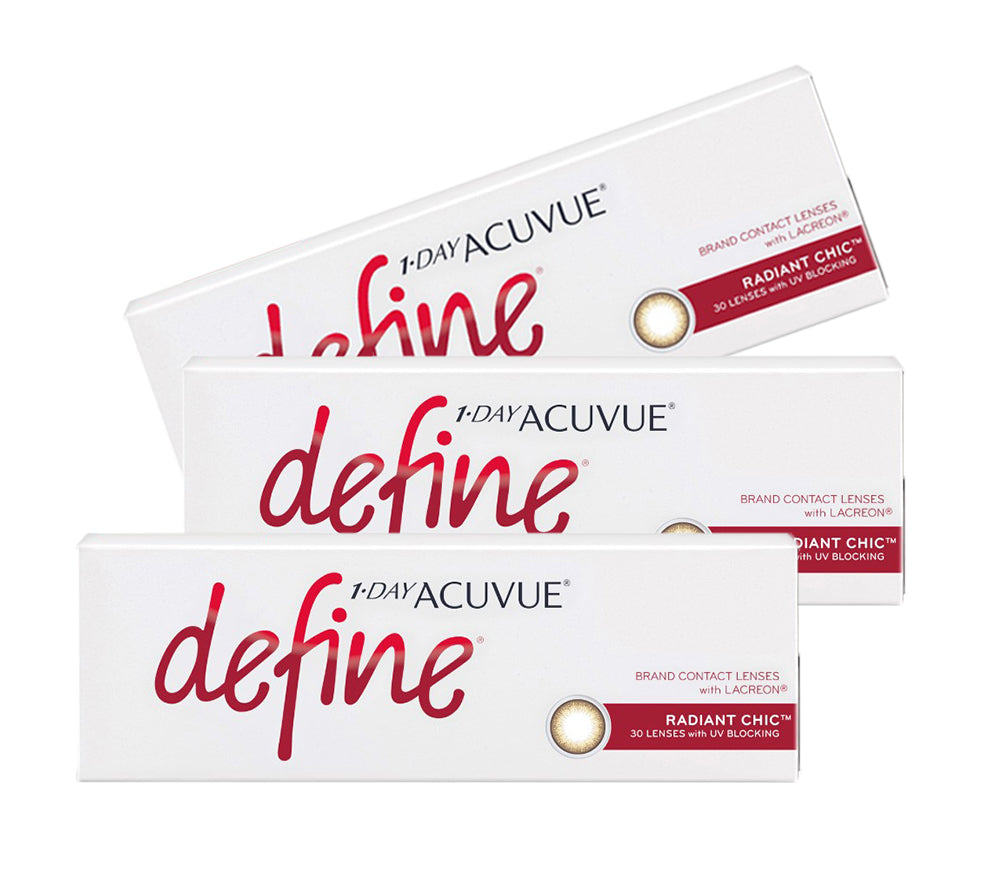 3 Box Set: 1 Day Acuvue DEFINE Radiant Chic by Johnson & Johnson