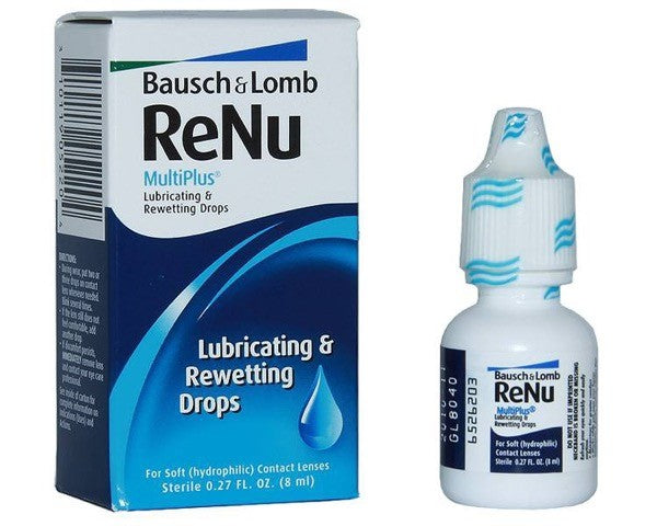 Re-Nu Multiplus Lubricating & Rewetting Drops 8ml by Bausch & Lomb