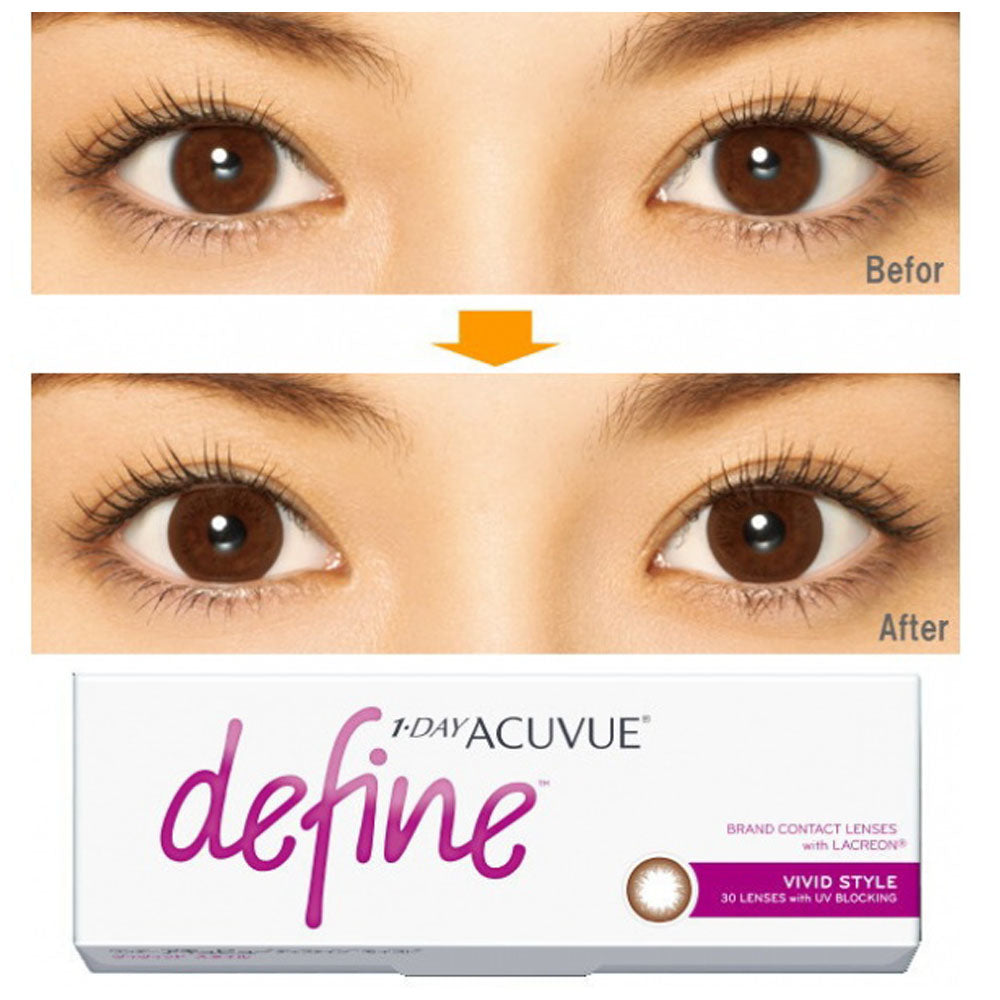 ( Spesial Februari ) 1 Day Acuvue DEFINE Vivid Style - Brown by Johnson & Johnson