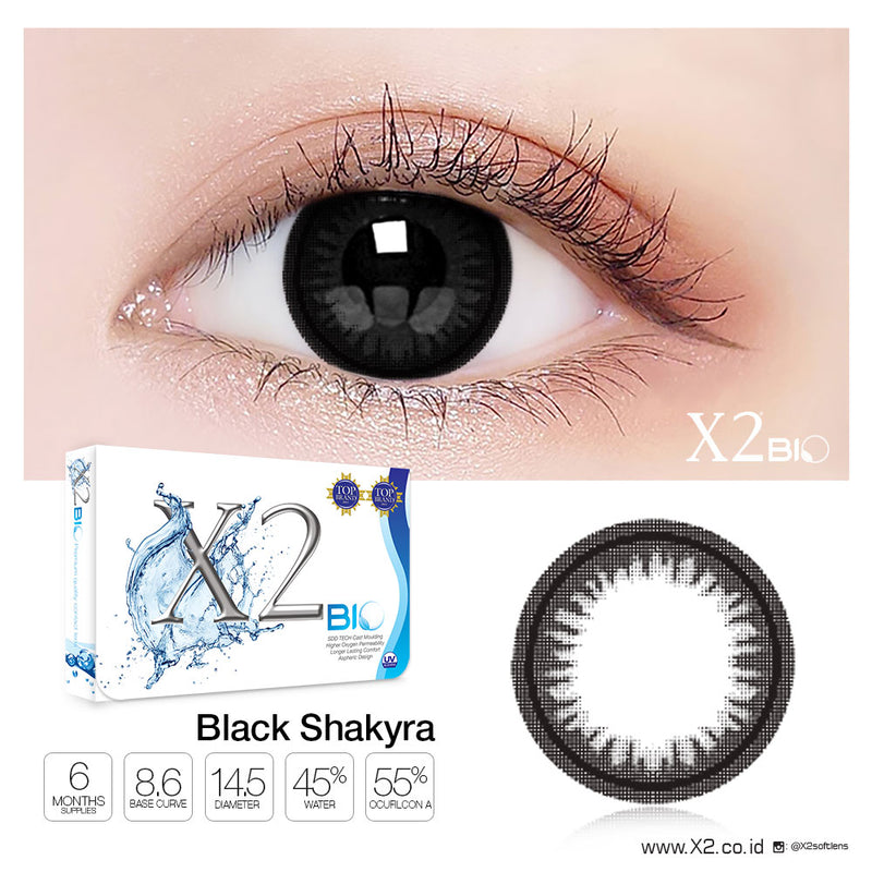 X2 Bio ( Old ) Black Shakyra ( GRATIS Complete Revitalens 100ml )