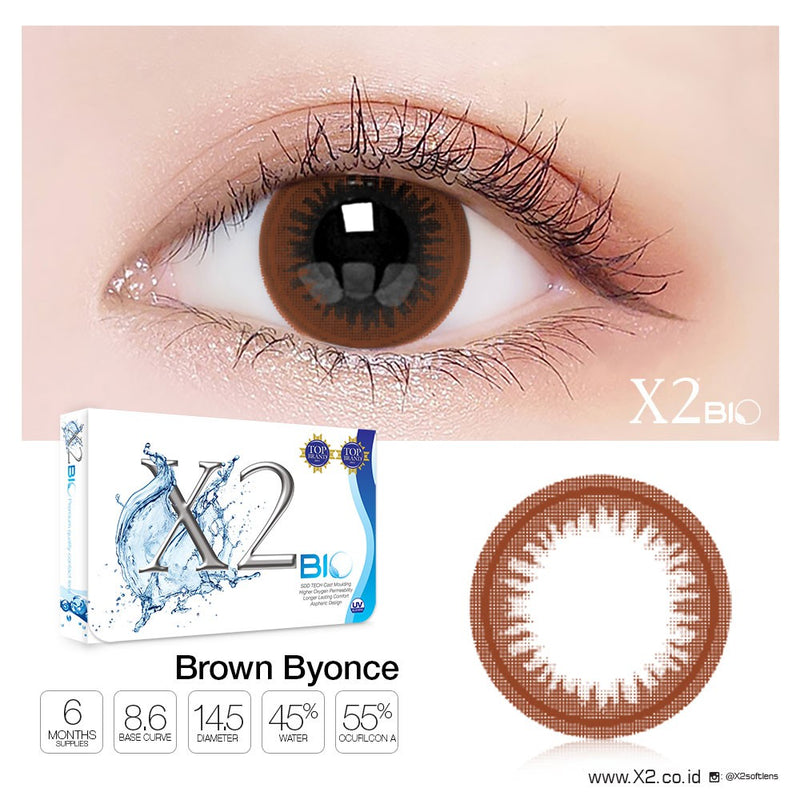 X2 Bio ( Old ) Brown Byonce ( GRATIS Complete Revitalens 100ml )