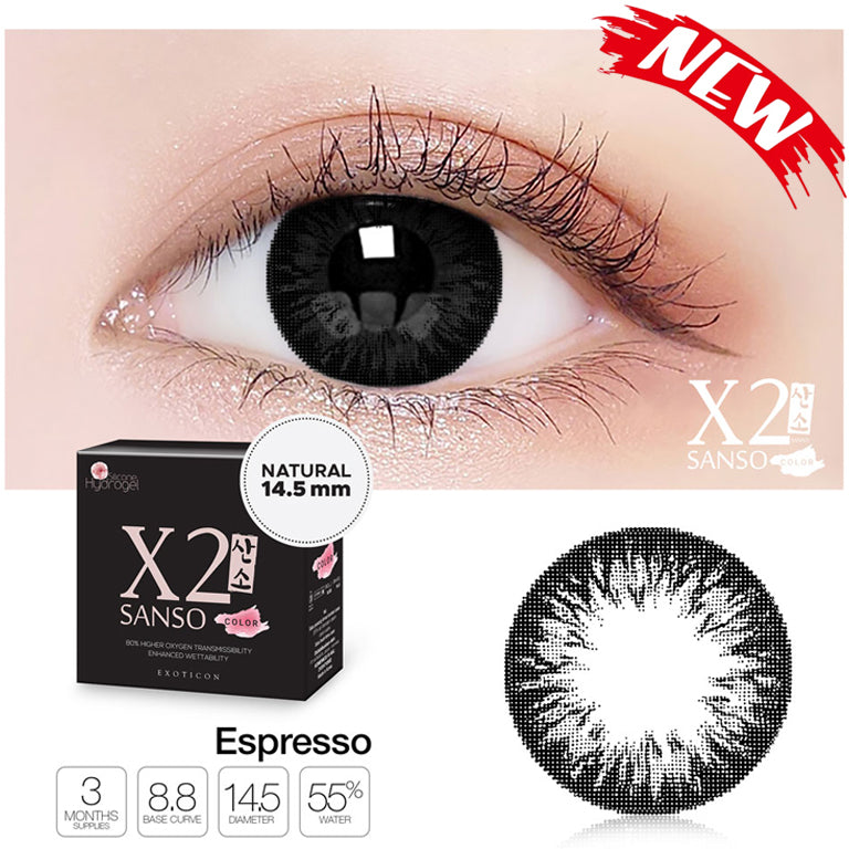 X2 Sanso Color Black - Espresso