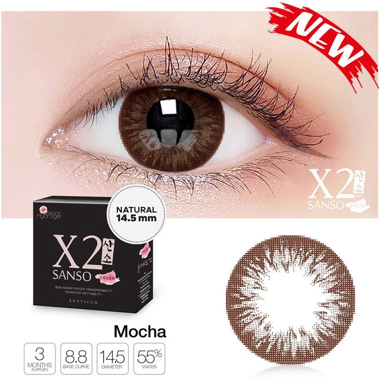 X2 Sanso Color Black - Mocha