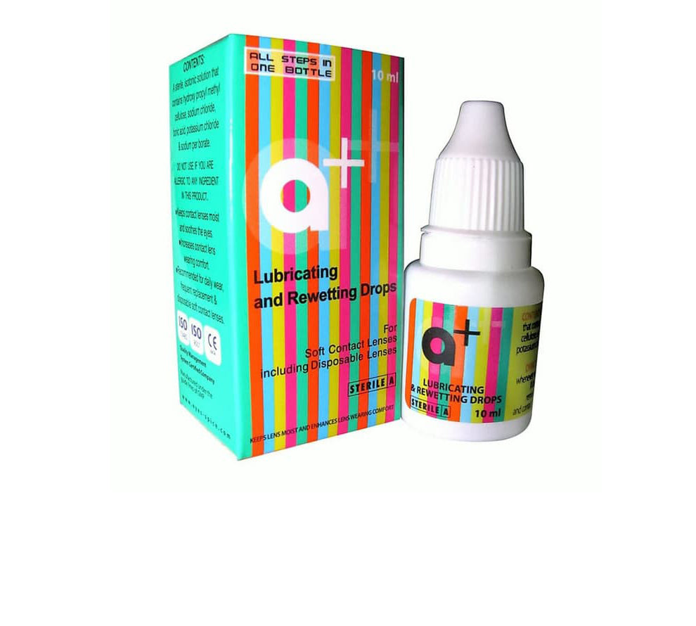 a+ Lubricating and Rewetting Drops 10ml by Stericon Pharma