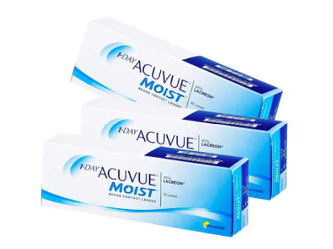 3 Box Set: 1 DAY ACUVUE MOIST by Johnson & Johnson