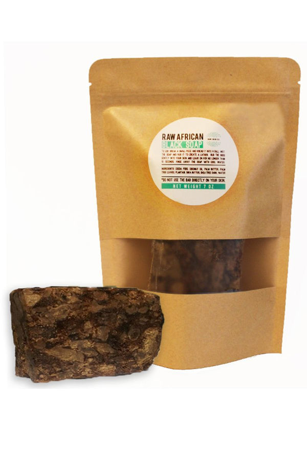 African Black Soap Bar (Large 1/2 Pound)