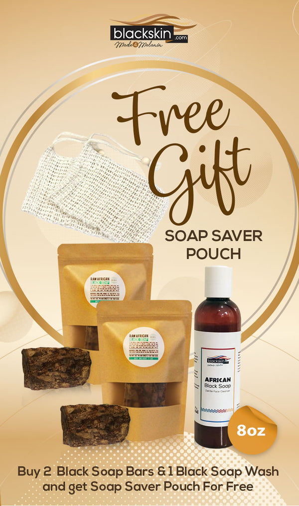 Deluxe African Black Soap and Wash Bundle + FREE GIFT