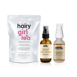 Anti - Hair and Dark Spot Package  Free Hormonal Tea