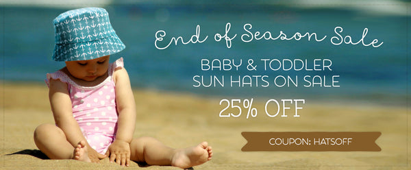 Baby Sun Hats on Sale!