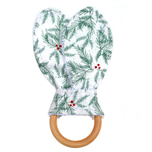 Boughs of Holly Baby Teether - Small Potatoes