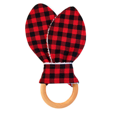Buffalo Plaid Baby Teether
