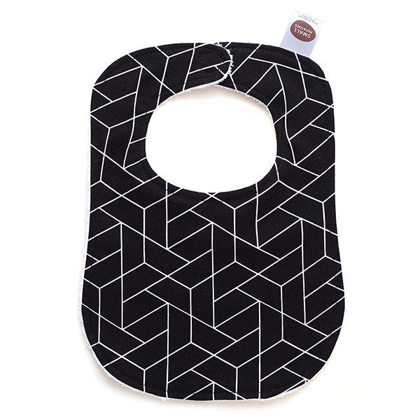 Black Geometric Bib