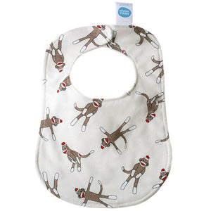 Monkey N Round Cream Bib - Small Potatoes