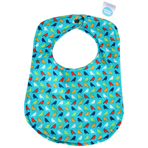 Poppy Peep Teal Bib - Small Potatoes