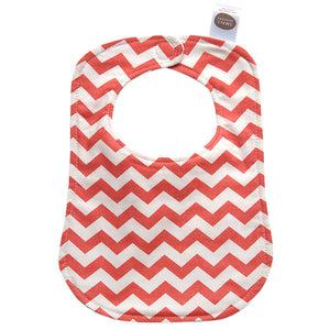 Red Chevron Bib - Small Potatoes