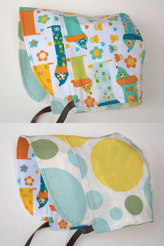 Giggle Dot Aqua / Hotdog Party Bonnet