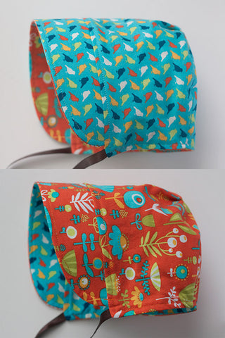 Poppy Dot Orange / Poppy Peep Teal Bonnet