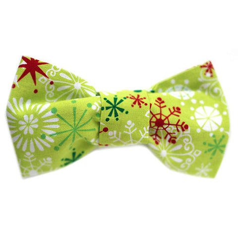 Holiday Green Bow Tie