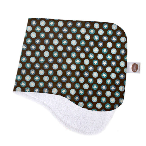 All-Star Tiny Star Chocolate Burp Cloth - Small Potatoes - 1