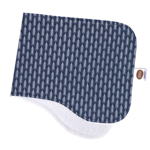 Arrowhead Navy Burp Cloth
