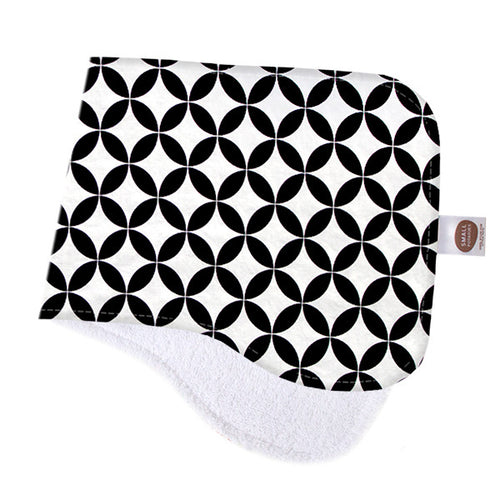 Black Diamonds Burp Cloth - Small Potatoes - 1