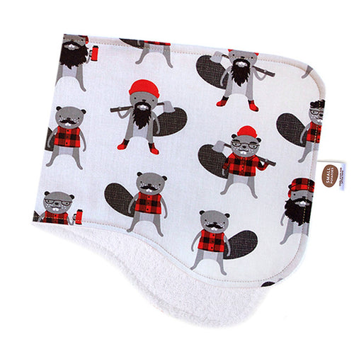 Burly Beavers Burp Cloth - Small Potatoes - 1