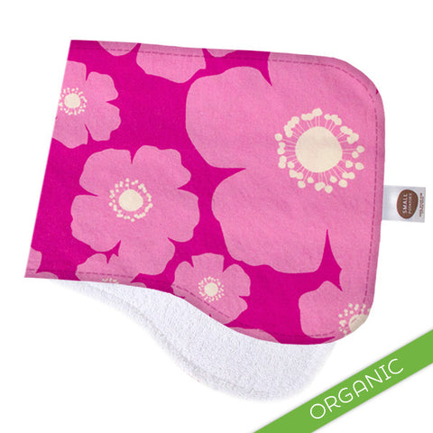 Cherry Blooms Burp Cloth - ORGANIC