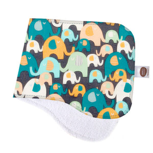 Elephant Splash Burp Cloth - Small Potatoes - 1