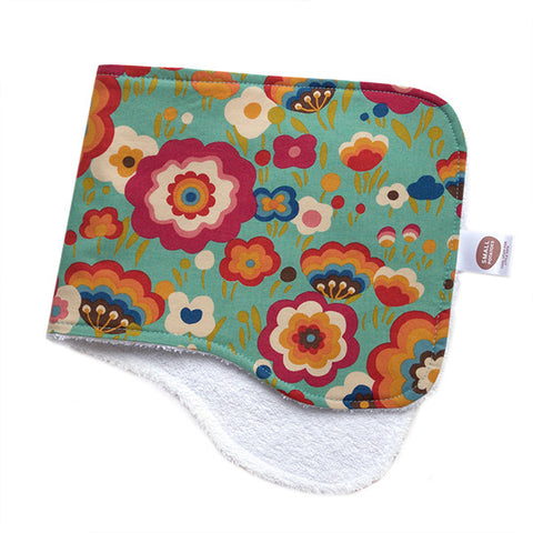 Flying Colours Teal Burp Cloth