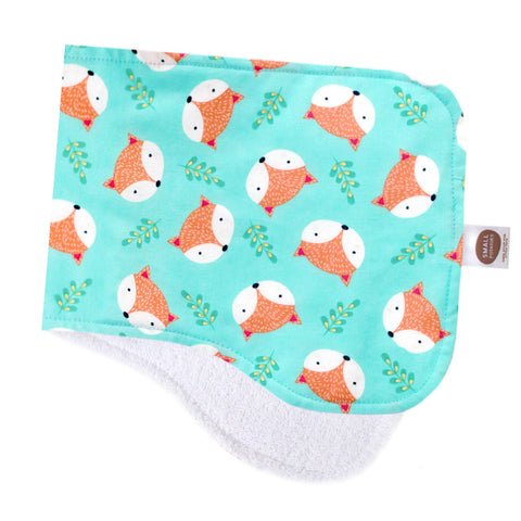 Foxy Faces Burp Cloth