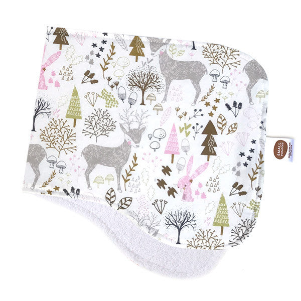 Hello My Friends White Burp Cloth - Small Potatoes - 1