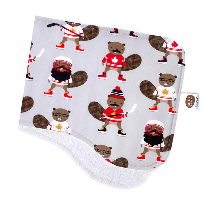 Hockey Beavers Burp Cloth