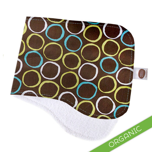 Mod Circles Blue Burp Cloth - ORGANIC - Small Potatoes - 1