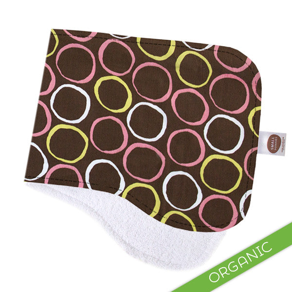 Mod Circles Pink Burp Cloth - ORGANIC - Small Potatoes - 1