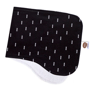 Nordic Arrows Black Burp Cloth