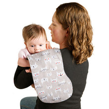 Black Swiss Cross Burp Cloth - Small Potatoes - 3