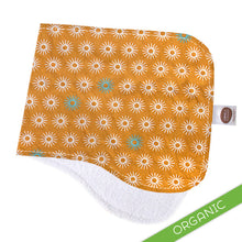 Starburst Orange Burp Cloth - ORGANIC - Small Potatoes - 1