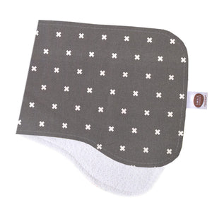 XOXO Grey Burp Cloth - Small Potatoes - 1
