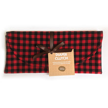 Buffalo Plaid Diaper Clutch