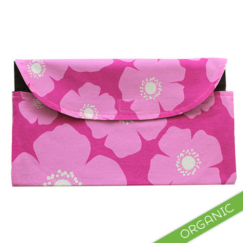 Cherry Blooms Diaper Clutch - ORGANIC