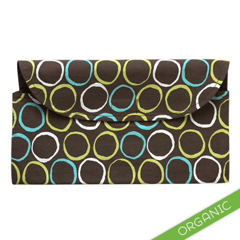 Mod Circles Blue Diaper Clutch - ORGANIC