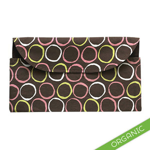 Mod Circles Pink Diaper Clutch - ORGANIC - Small Potatoes - 1