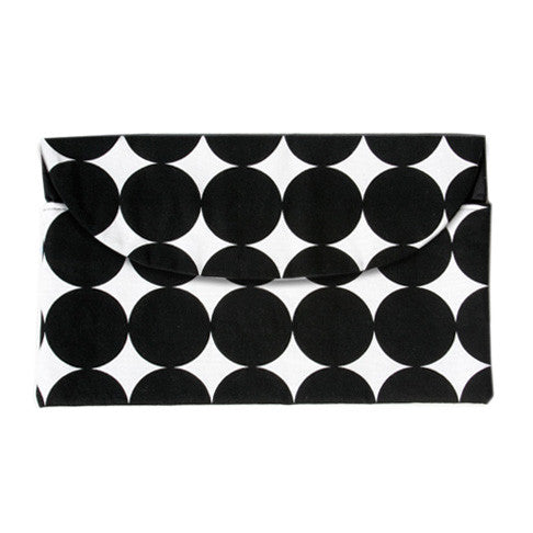 Mod Dots Black Diaper Clutch - Small Potatoes - 1