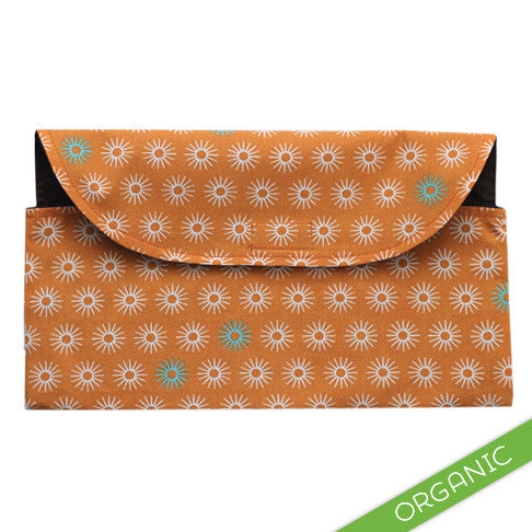 Starburst Orange Diaper Clutch - ORGANIC - Small Potatoes - 1