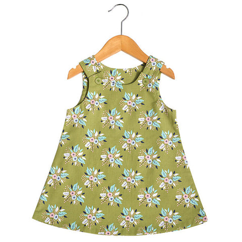 Antler Bouquet Green Dress