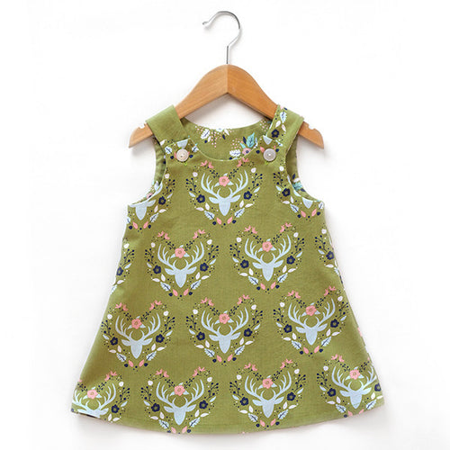 Antler Meadow Green Dress