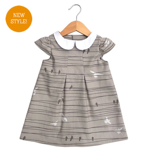 Birds on a Wire Peter Pan Collar Dress - Small Potatoes