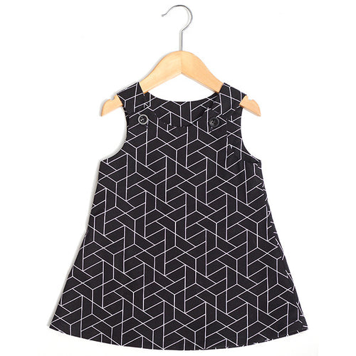 Black Geometric Dress